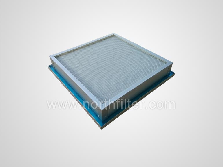 Gel seal mini-pleat hepa filter