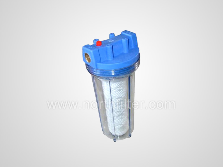 filter housing with water filter element